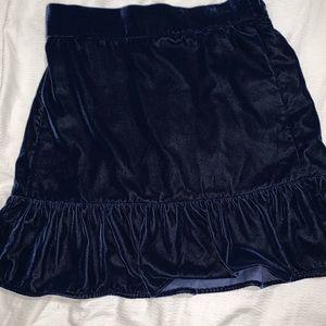 Velvet navy J. Crew skirt